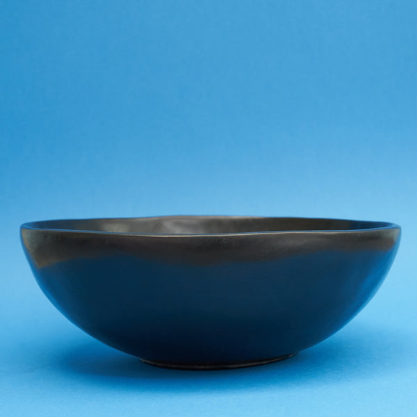Large Handmade Black Wooden Bowl - A BAG FULL OF KIM - Kim Sion
