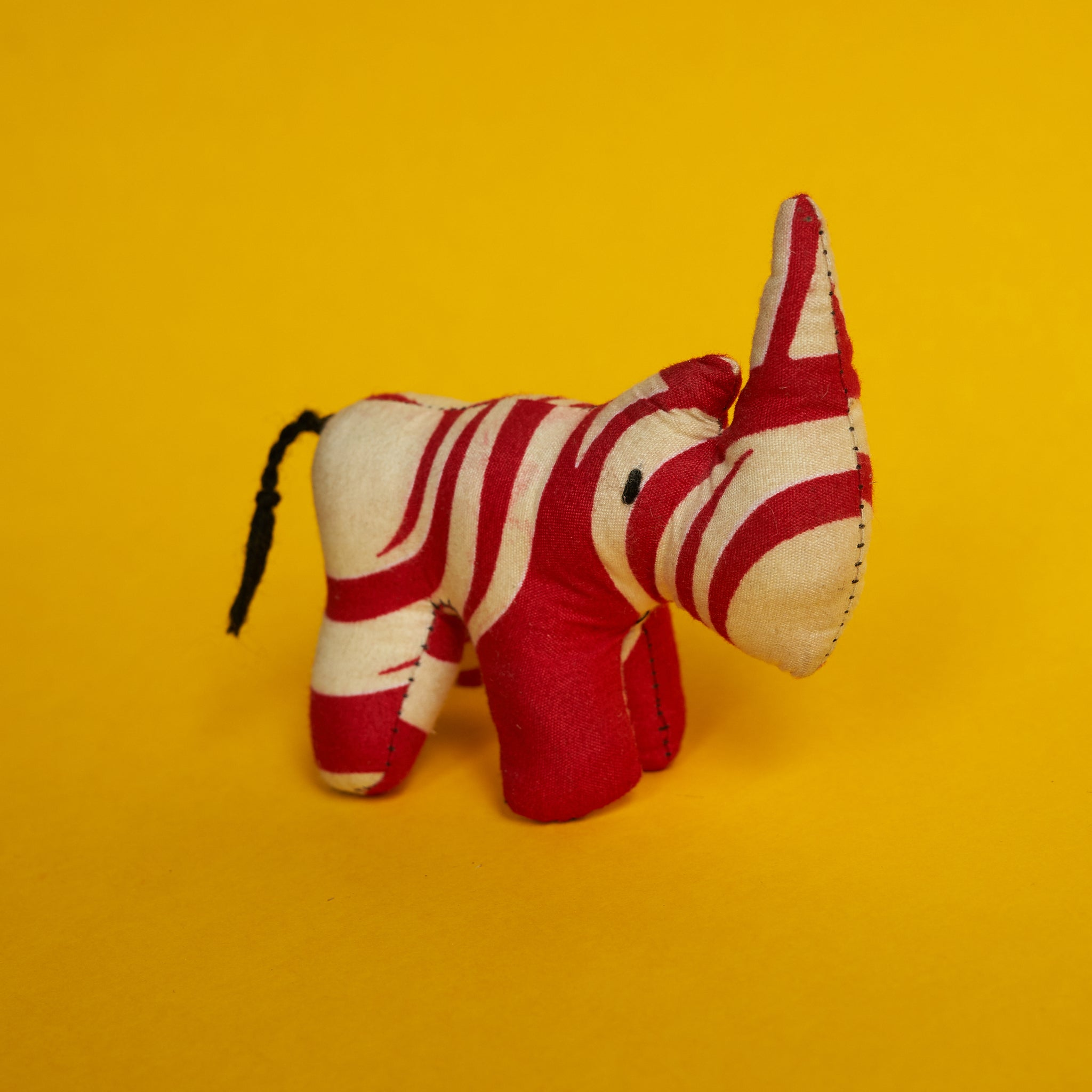 Handmade Cloth Toy - Red and White Rhino - A BAG FULL OF KIM - Kim Sion