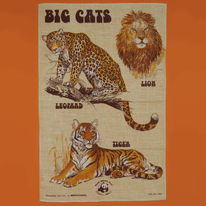 Linen Tea Towel - Big Cats - A BAG FULL OF KIM - Kim Sion