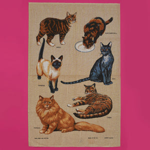 Linen Tea Towel - Cats - A BAG FULL OF KIM - Kim Sion
