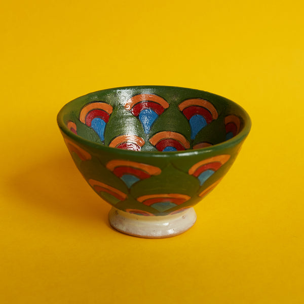 Painted Bowl in Green - A BAG FULL OF KIM - Kim Sion