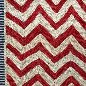 Maison Bengal Woven Chevron Matt in Red - A BAG FULL OF KIM - Kim Sion