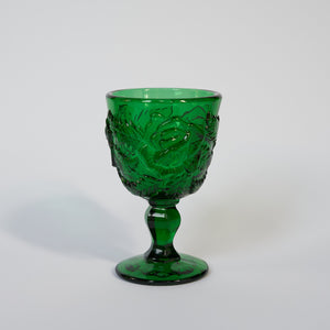 One Off Madonna Inn Wine Goblet in Clear Green - A BAG FULL OF KIM - Kim Sion