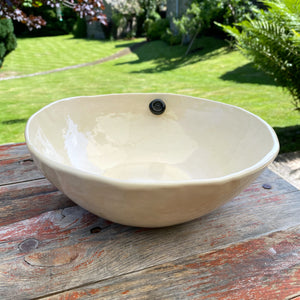 Earthenware Large Hand Built Serving Bowl 9.5""
