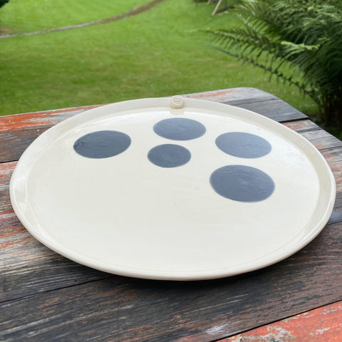 Earthenware Large Hand Built Plate 11""