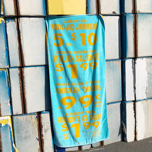 Peter Miles Beach Towel in Yummy Italian Blue - A BAG FULL OF KIM - Kim Sion