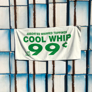 Peter Miles Beach Towel in Kinky Cool Whip White - A BAG FULL OF KIM - Kim Sion
