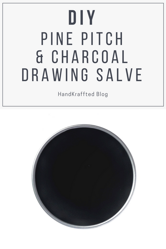 Pine Pitch & Charcoal Drawing Salve