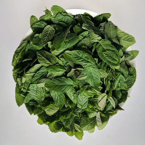 peppermint and spearmint clippings