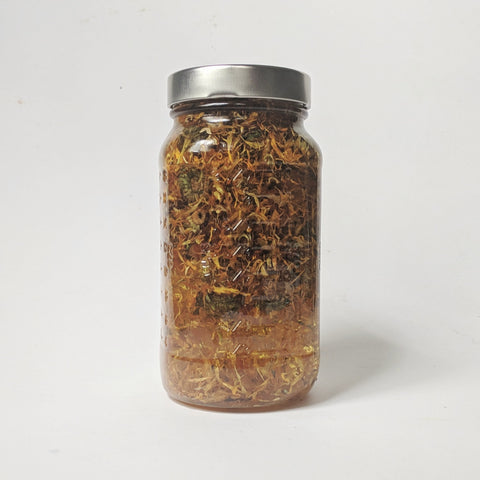 Calendula infused oil is a skincare staple for all skin types