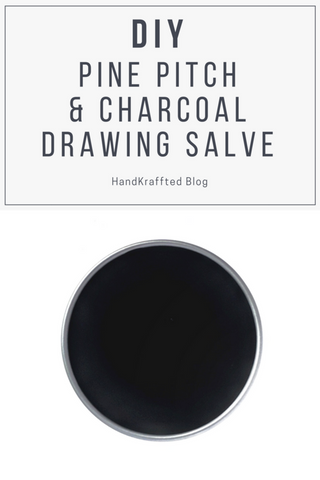 DIY recipe pine pitch resin and activated charcoal drawing salve balm