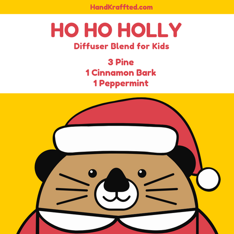 holiday essential oil diffuser blend for kids