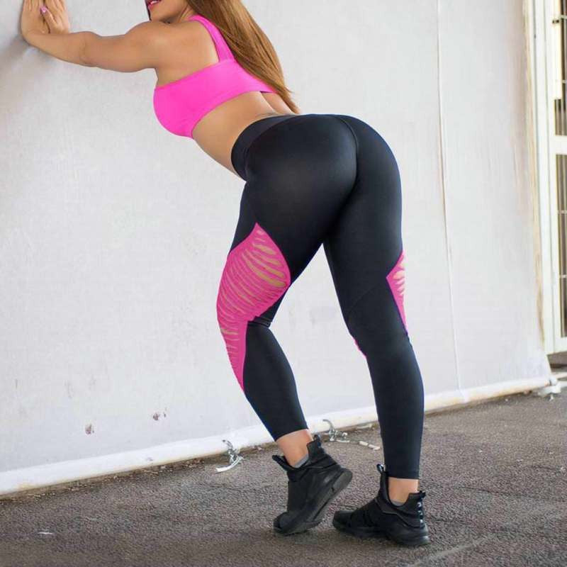 Women High Waist Sexy Hollow Out Leggings Bandage Summer Fitness Leggings Hot Sale Stretch Fashion Pants Trousers