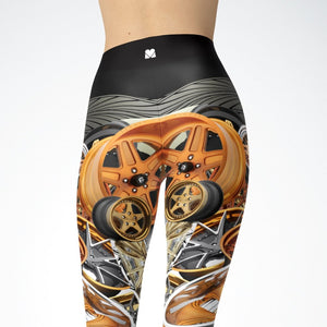 Bronze Wheels Leggings