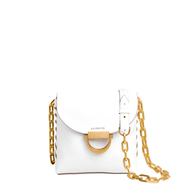 LAURAFED CADDY White & beige SHOULDER BAG