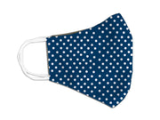 nr. 4 mascherine - Pois Blu kit