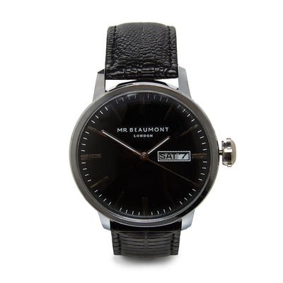 Mr Beaumont Vintage Silver Case/Black Dial