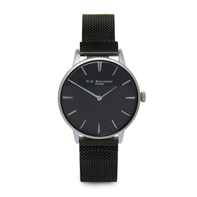 Holborn small magnetic ladies watch black mesh strap