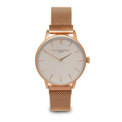 Holborn small magnetic ladies watch rosegold mesh strap