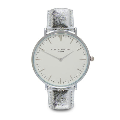 Vegan Oxford Large White Dial/Silver