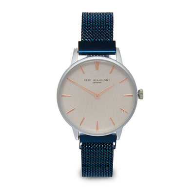 Holborn small magnetic ladies watch dark blue mesh strap