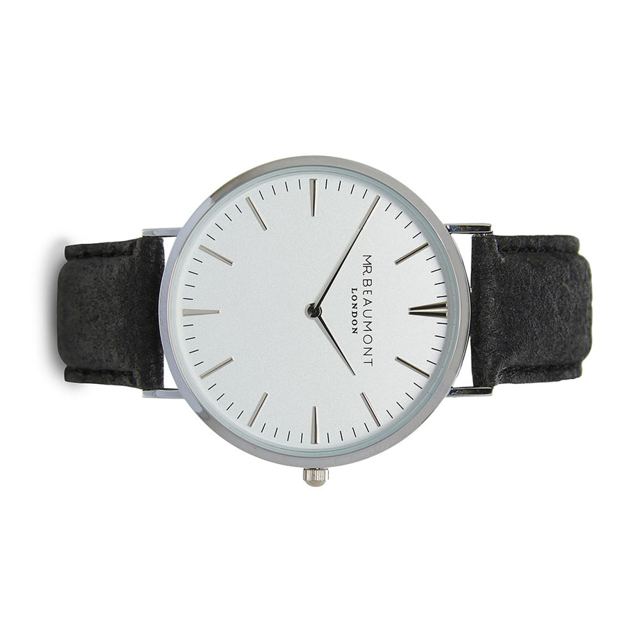 Mr Beaumont Vegan White Dial/Black