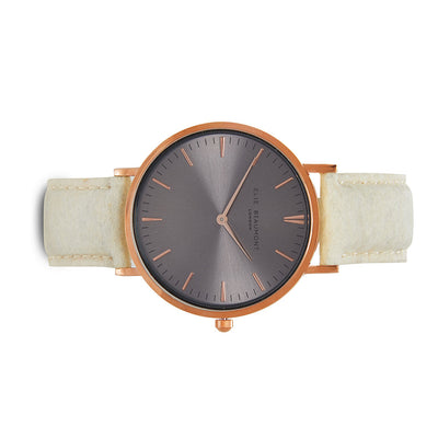 Vegan Oxford Large Grey Dial/Cream