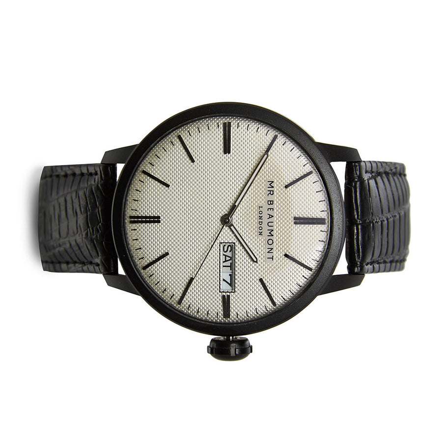Mr Beaumont Vintage Black Case/Silver Dial