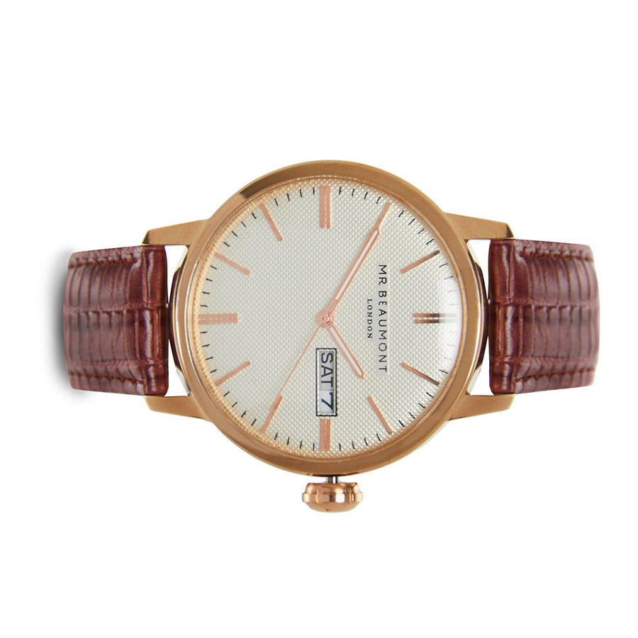 Mr Beaumont Vintage Brown/White Dial