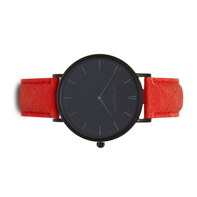 Vegan Oxford Large Black Dial/Red