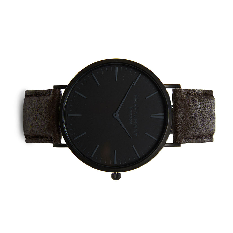 Mr Beaumont Vegan Black Dial/Brown