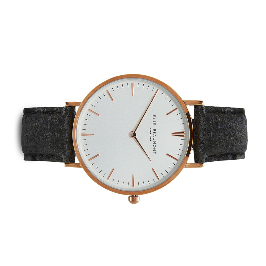 Vegan Oxford Large White Dial/Black