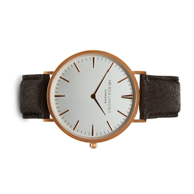 Mr Beaumont Vegan White Dial/Brown