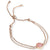 EB2803 Bracelet Rosegold with Rose Quartz