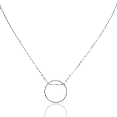 EB3804 Necklace Silver