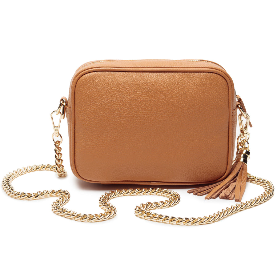 Crossbody Tan (Gold Chain)