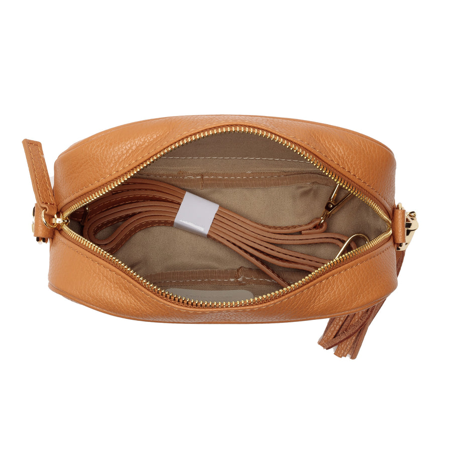Crossbody Tan (Zebra strap)