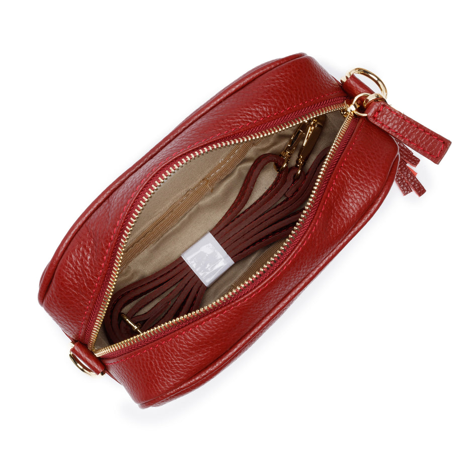 Crossbody Wine (Champagne stripes strap)