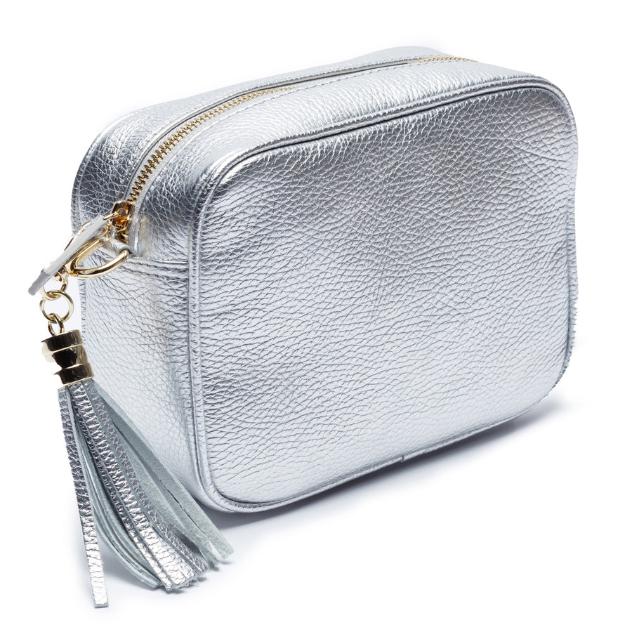 Crossbody Silver (Champagne stripes Strap)