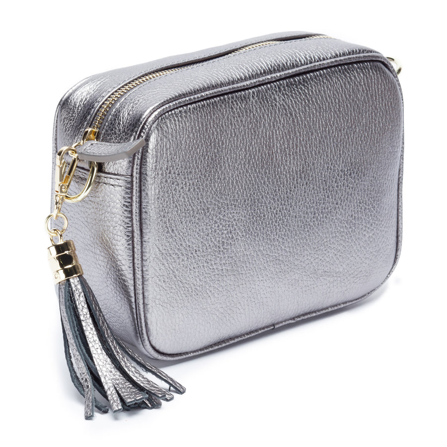 Crossbody Metallic Pewter (Baroque Strap)