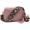 Crossbody Dusty Rose (Olive Leopard strap)