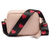 Crossbody Pink (Red Hearts strap)