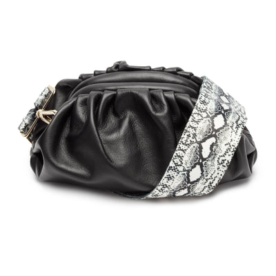 Cloud Bag Black (Python strap)
