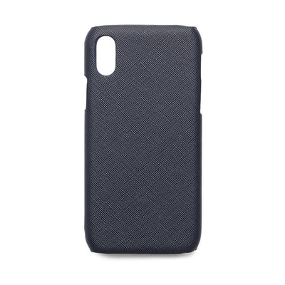 Navy Blue Saffiano - iPhone X / iPhone XS