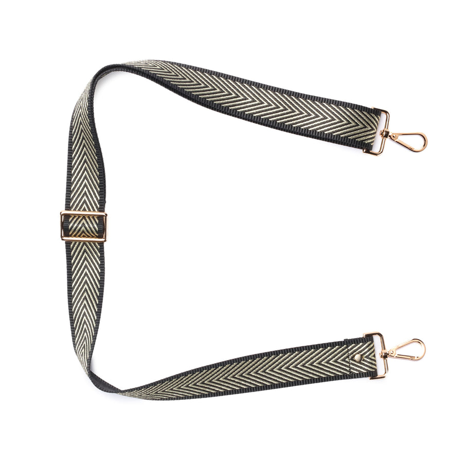 Crossbody strap - Gold Chevron