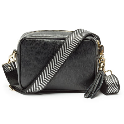 Crossbody strap - Silver Chevron
