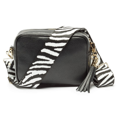 Crossbody Black (Zebra Strap)
