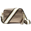 Crossbody Metallic Bronze (Black/White/Gold Strap)