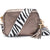 Crossbody Metallic Bronze Zebra