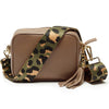 Crossbody Taupe (Olive Leopard Strap)
